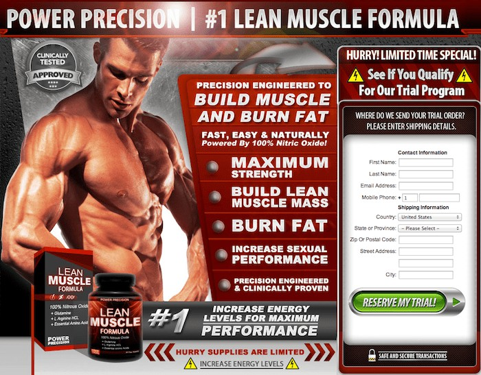 Power Precision Free Trial - Male Muscle Enhancement Supplement