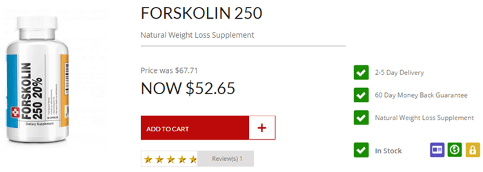 Forskolin 250 - 52 USD International Free Shipping