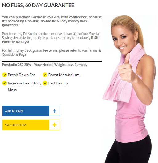 Forskolin 250 - 60 Day Money back Gurantee