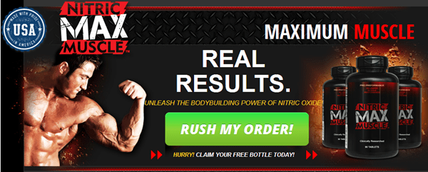 Nitric Max Muscle and Anabolic Rx24 - Call to Action and Purchase Button - Real Results