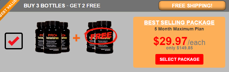 Pro Testosterone - 5 Month Supply - USD 30 per Bottle