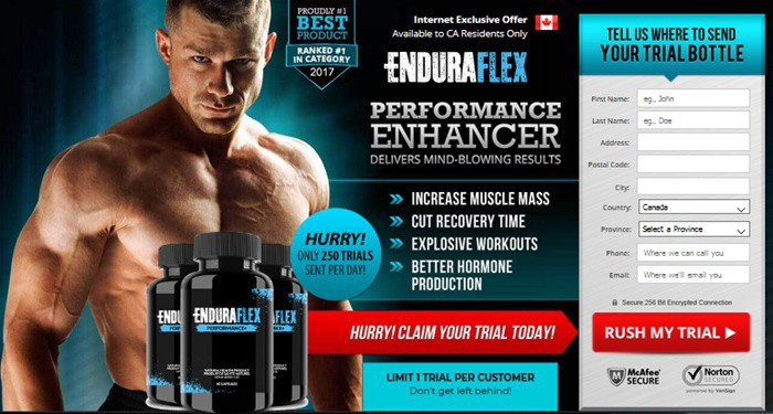 enduraflex canada - performance pill - trial