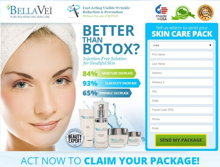 BellaVei Cream - Better than Botox - Skin Care Package