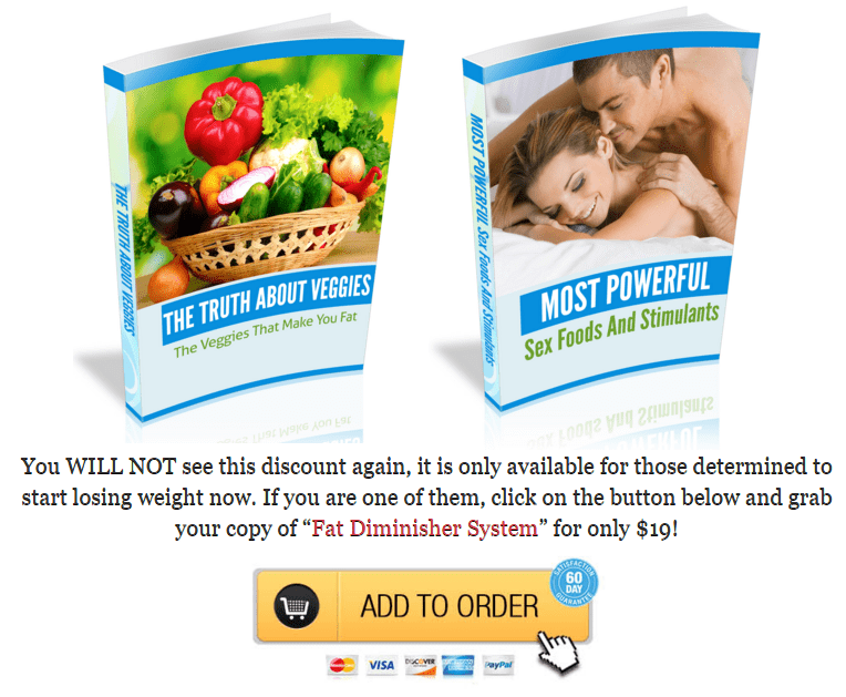 fat diminisher system - free gifts