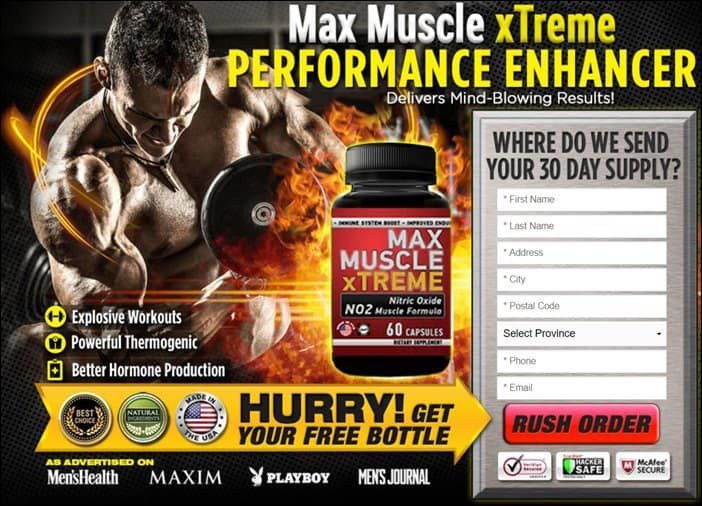 max muscle xtreme performance enhancer trial in canada - Order Free Trial