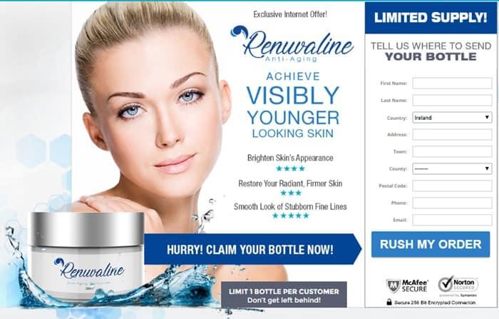 renuvaline ireland - anti-aging moisturizing cream