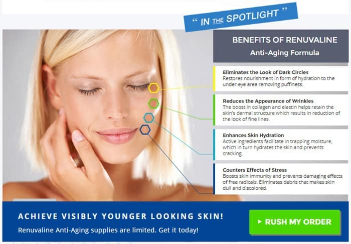 renuvaline ireland - reduce signs of aging and wrinkles