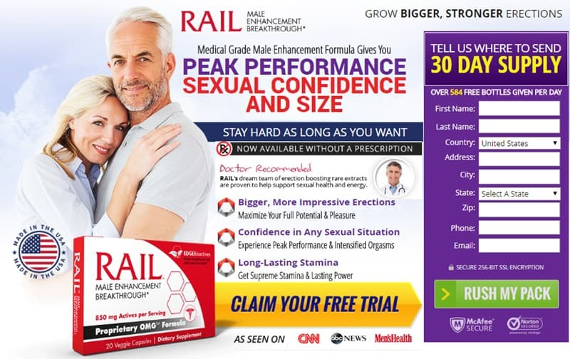 Rail Male Enhancement for Peak Performance - Trial
