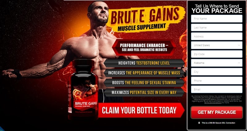 brute gains - muscle supplement - usa, canada