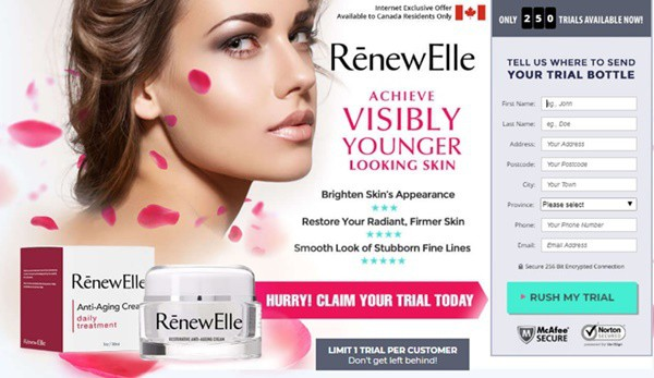 renewelle cream canada - trial