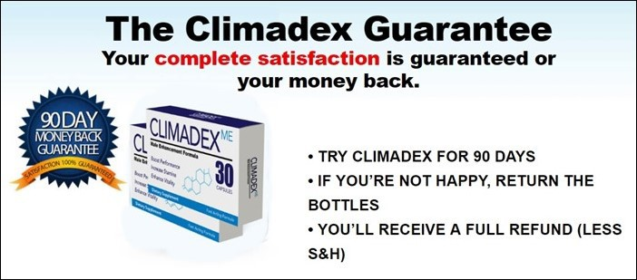 claim climadex bottle for total satisfaction
