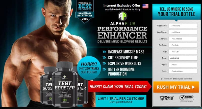 alphaplus test booster - trial in usa