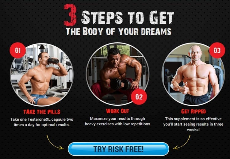 TESTERONE XL-Free Trial- 3 Steps for Superior Muscle Stack