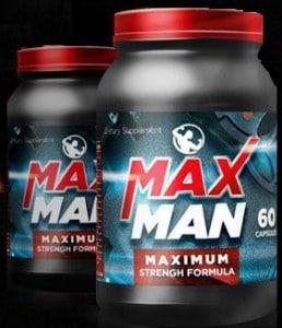 MaxMan Power Maximum Strength Formula for Testosterone & Muscles