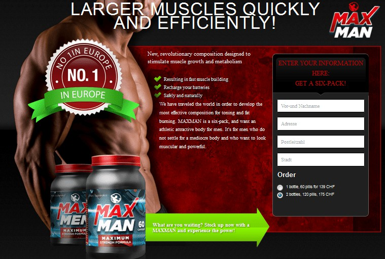 Maxman Power - Larger Muscles in Less Time