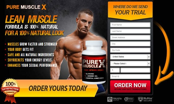 Pure Muscle X - Formula is Natural and Safe to Enhance Lean Muscle Mass - Order it Here