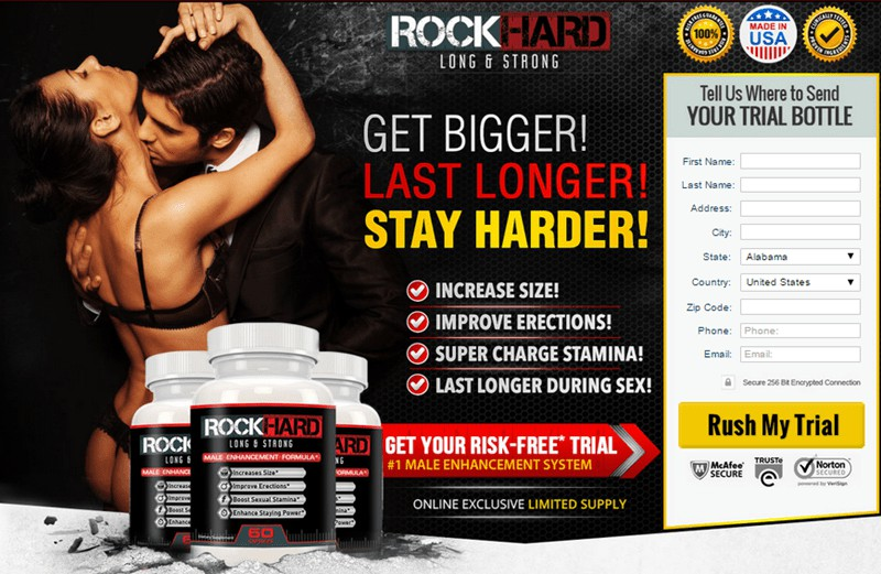 Rock Hard - Get Bigger, Last Longer, Stay Harder - USA