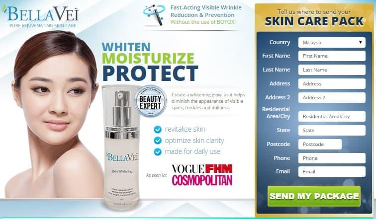 bellavei skin whitening skin care pack