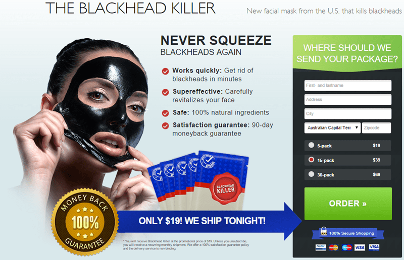 blackhead killer mask - register your package and say no to blackheads