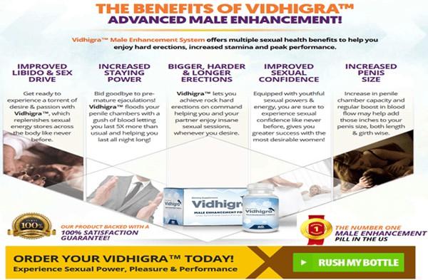 benefits of vidhigra pills