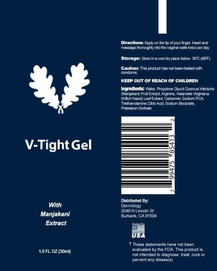Gel V-Tight - ingredientes dentro