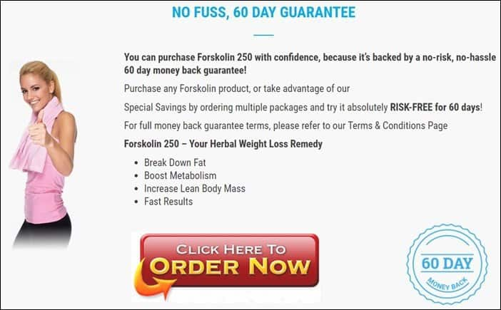 Forskolin 250 Benefits - 60 Day Money back Gurantee - Forskolin Slim